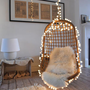 White Pom Pom LED String Light Chain