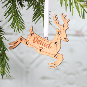 Reindeer Personalised Christmas Ornament  Decoration - Betsy Benn