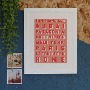 Our Favourite Places Destination Print