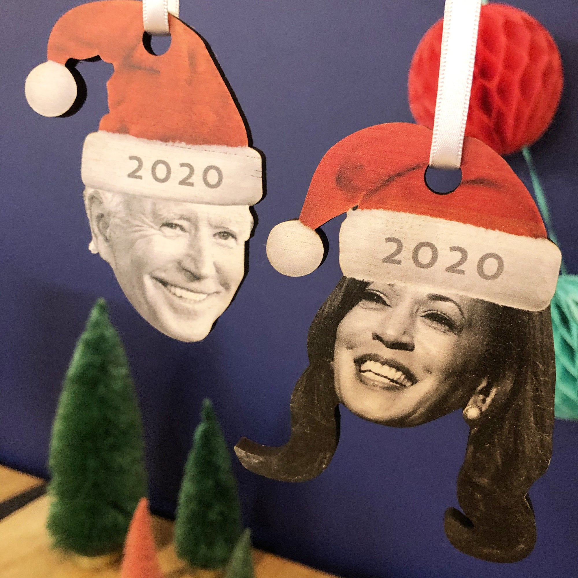 Joe Biden & Kamala Harris 2020 Christmas Tree Ornaments