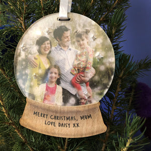 Snow Globe Photo Christmas Decoration