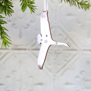 Cygnus Swan Constellation Metallic Christmas Ornament  Decoration - Betsy Benn