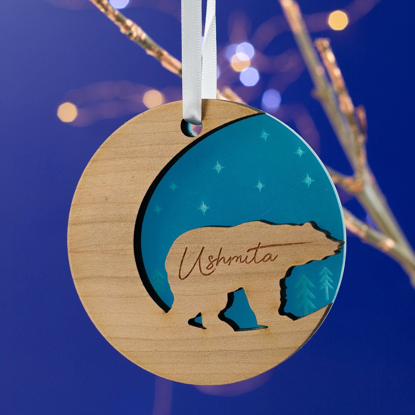 Starry Polar Bear Christmas Ornament-Decoration-Betsy Benn