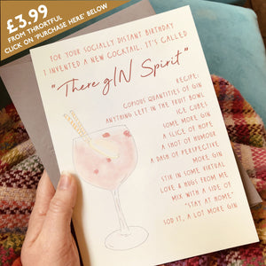 There gIN Spirit - social distance birthday card - buy direct from Thortful-Card-Betsy Benn