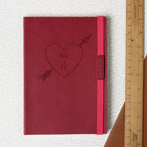 Red Love Heart Notebook