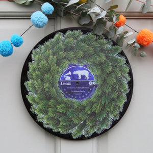 Personalised Vinyl Record Christmas Wreath-Betsy Benn