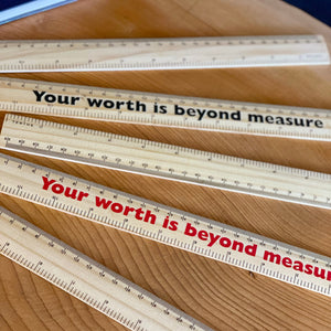Personalised Worthy Wooden Ruler