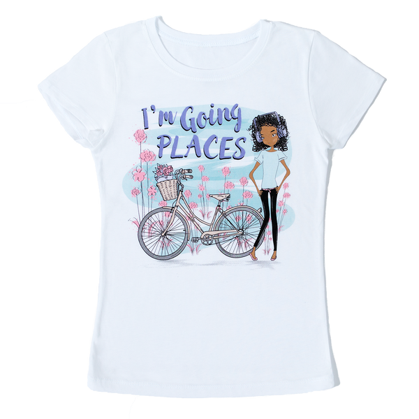 I'm Going Places Girls Tshirt