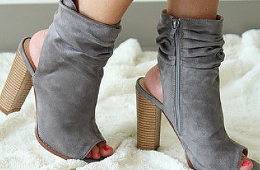 Peep Toe Boots for Fall