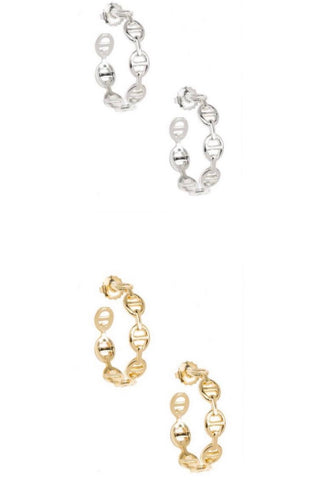 Mariner Link Hoop Earrings