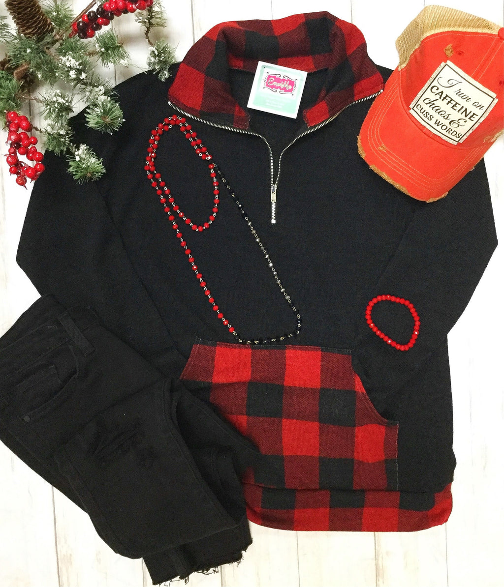 The Butte Buffalo Plaid Pullover