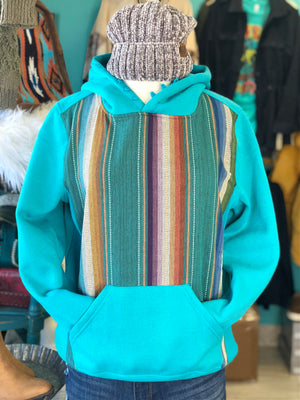The Turquoise Silverton Serape Hoodie