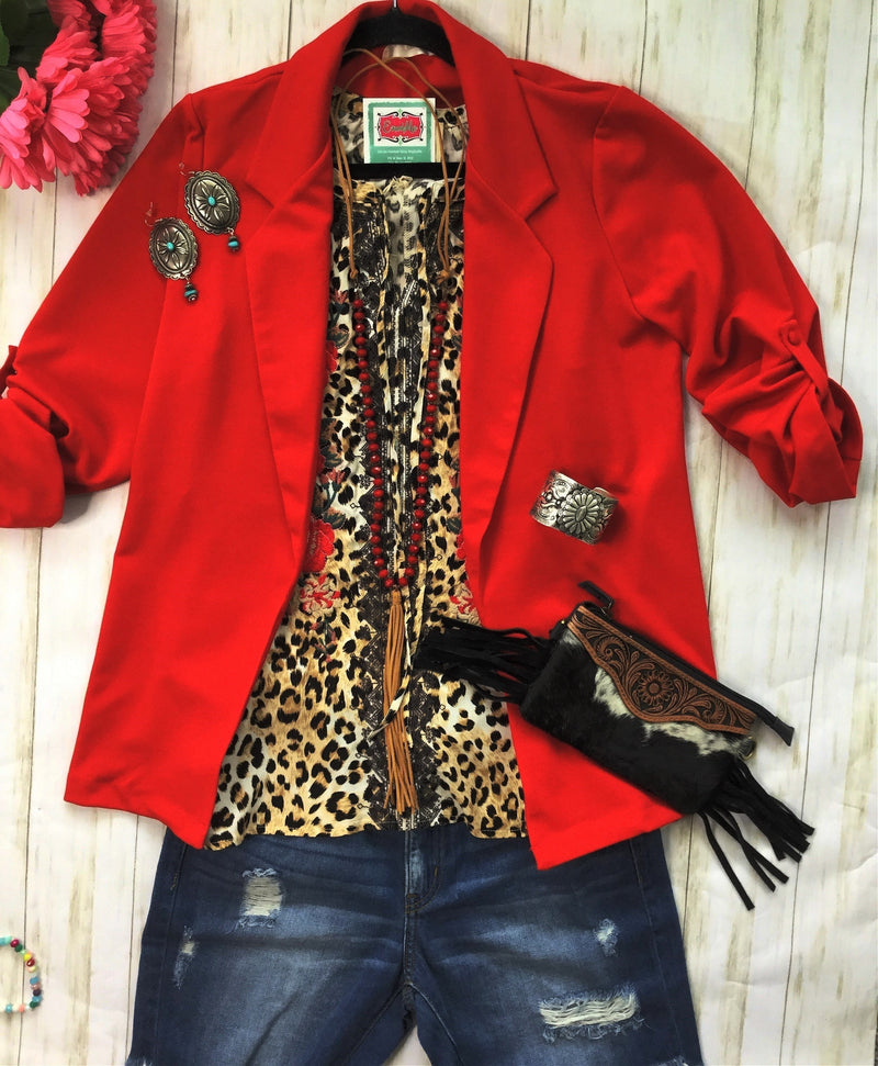 The Red Be My Firecracker Blazer