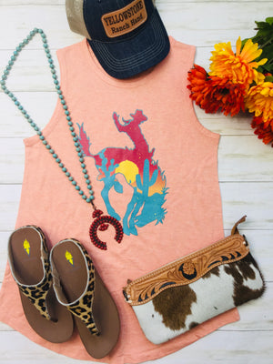 The Sunset Cactus Bronc Tank