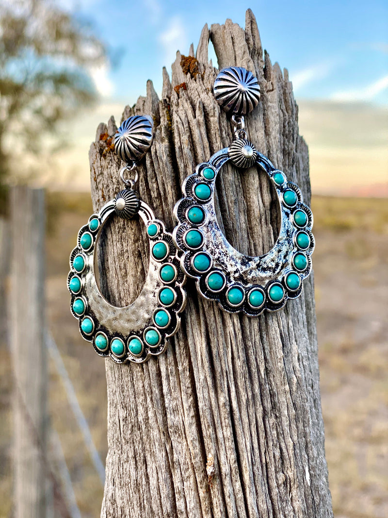 Be My Mesa Turquoise Stone Earrings