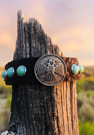 Leather Wrap Buffalo Coin Bracelet