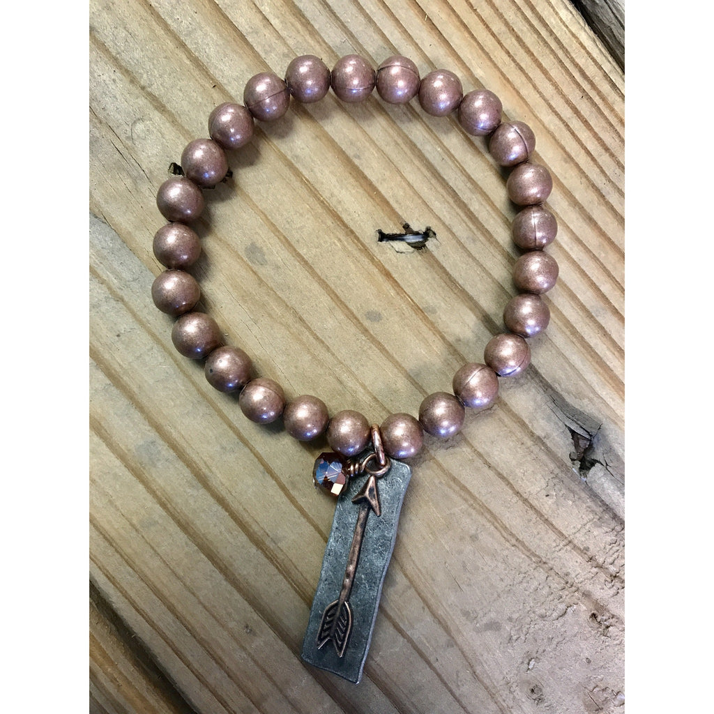 Arrow Stretch Copper Bracelet