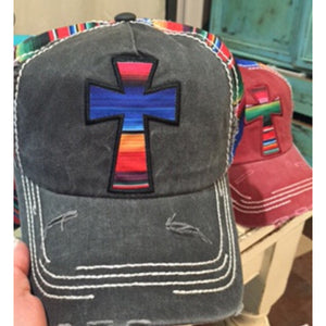 Serape Cross Cap