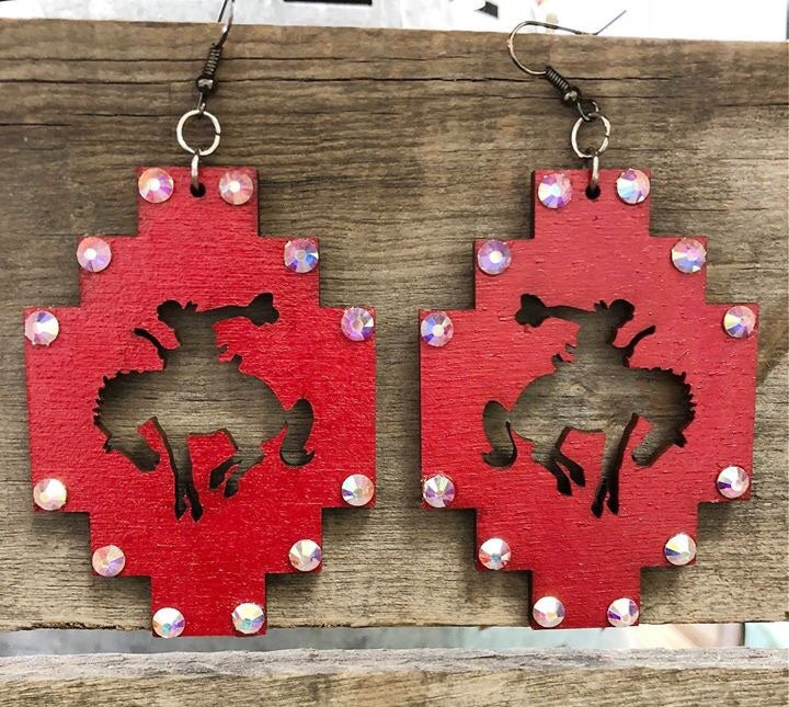 Red Bronc Earrings