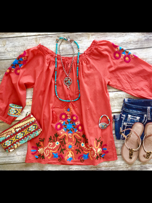 The Fiesta Embroidered Top