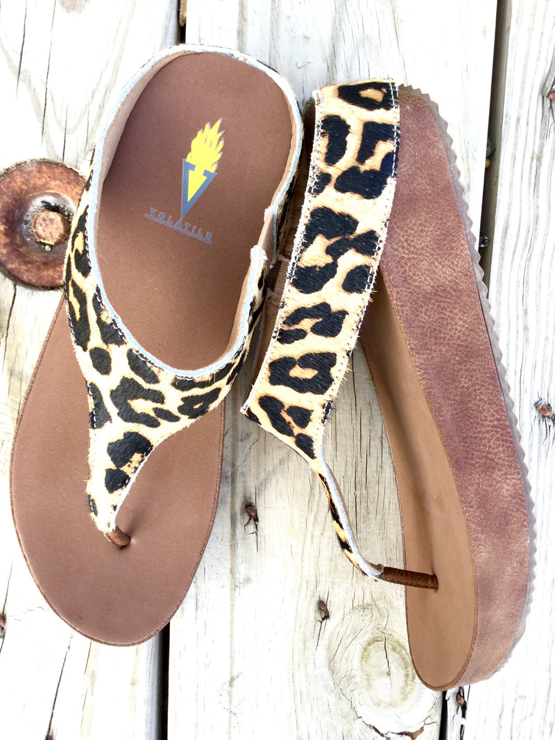 The Maverick Cheetah Hair On Sandal