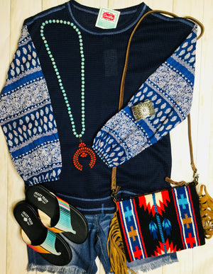The Bellflower Boho Blue Top