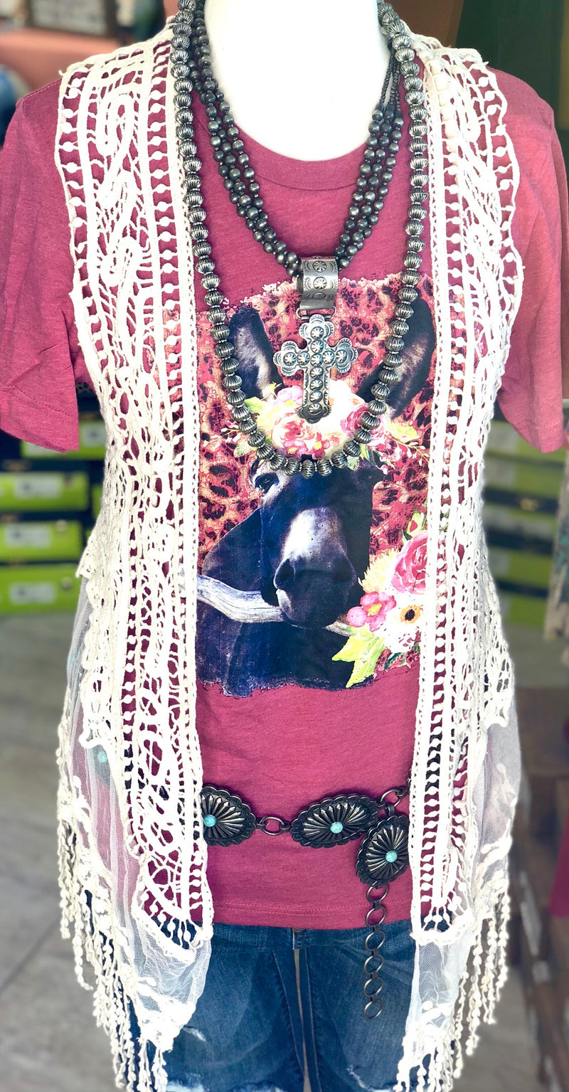 The South Of Porter Lace Vest