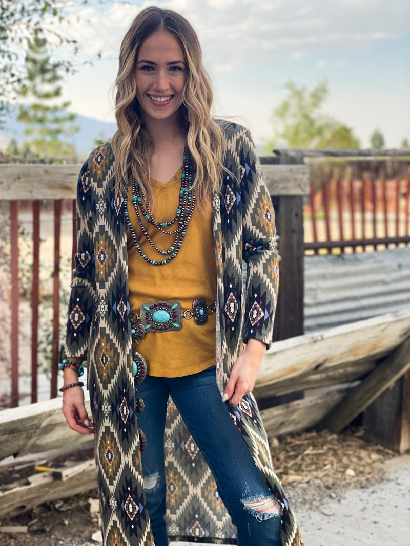 The Fall Toluca Tribal Cardi