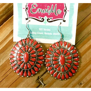 Red Rose Southwest Earrings