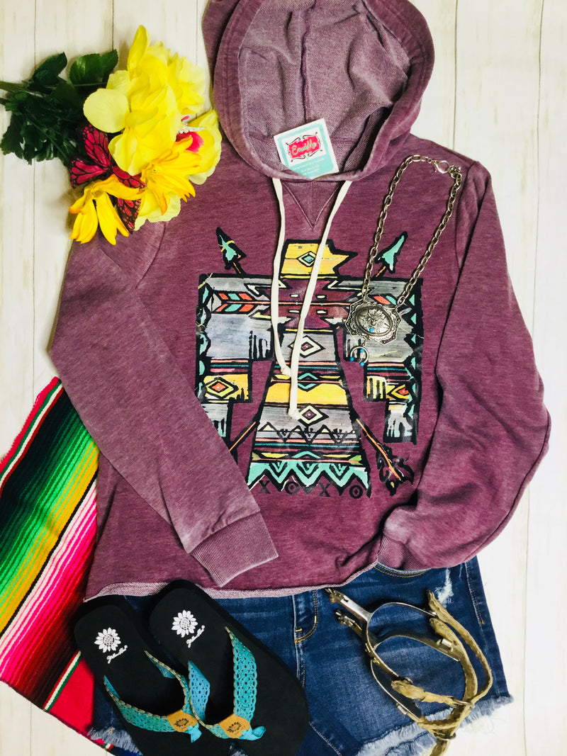 The Black Hills Maroon Thunderbird Hoodie