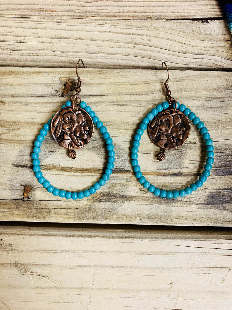 The Buffalo Turquoise Earring