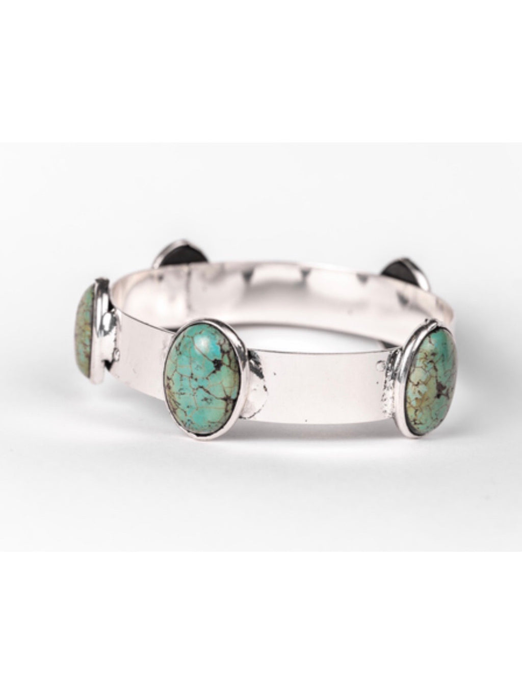 The Santa Palo Silver & Turquoise Bangle Bracelet
