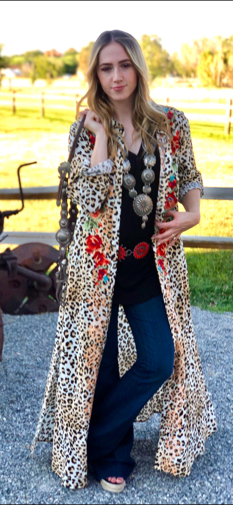 The Cheetah Denver Embroidered Dress