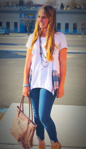 The Boho Blue Top