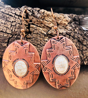 Southwestern Style Copper Earrings