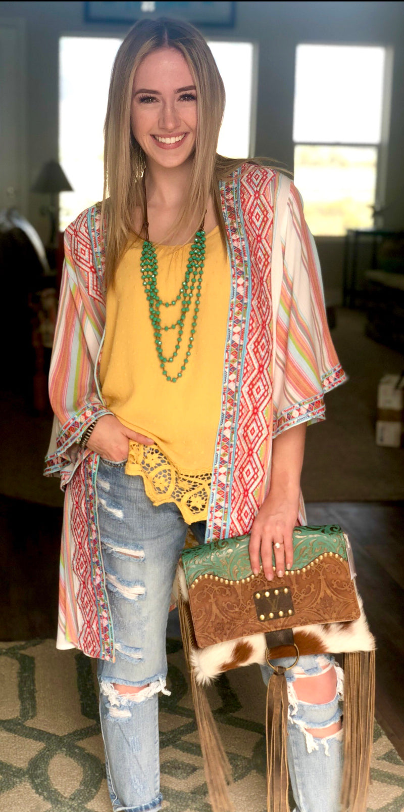 The Sun Valley Embroidered Kimono