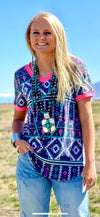 The Zingo Tribal V Neck Top