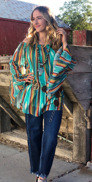 The Seminole Turquoise Tribal Serape
