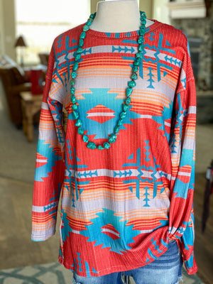 The Frio River Aztec Top