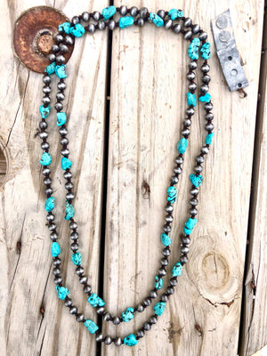 The Simbada Silver and Turquoise Necklace
