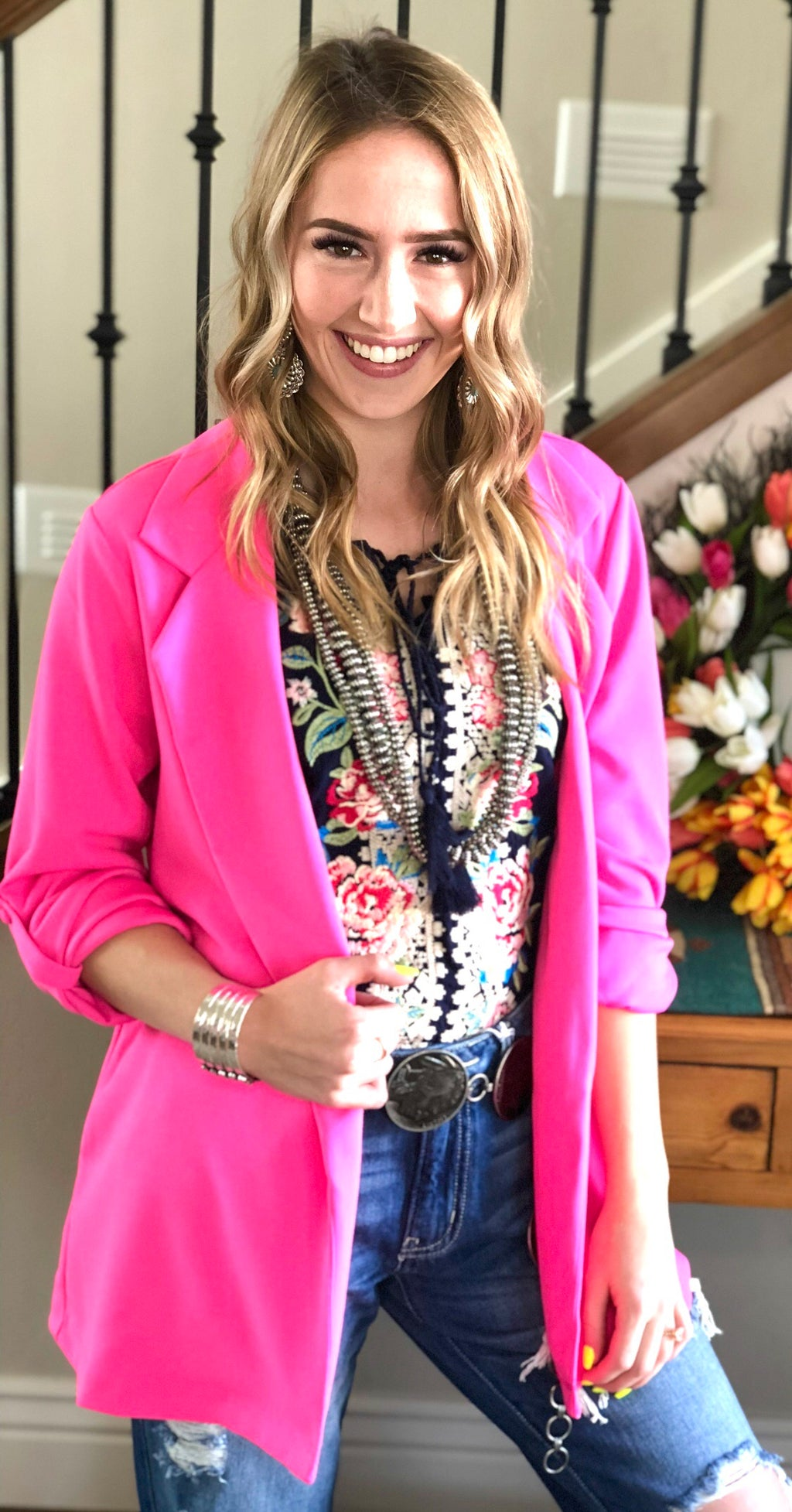 The Pecos Hot Pink Blazer
