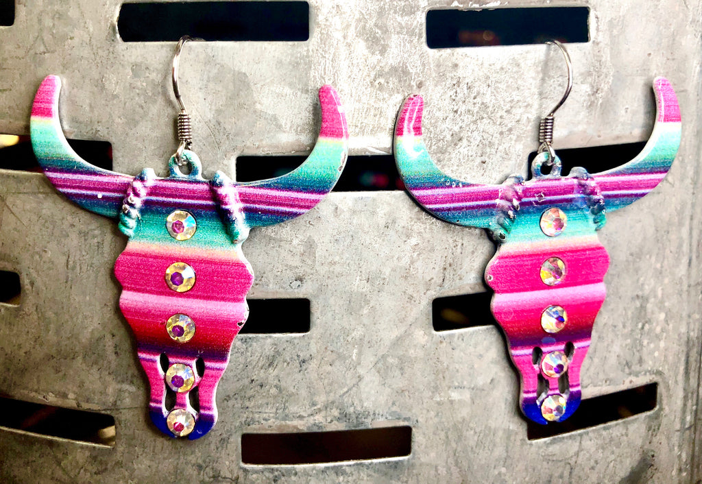 The Serape Steer Earring