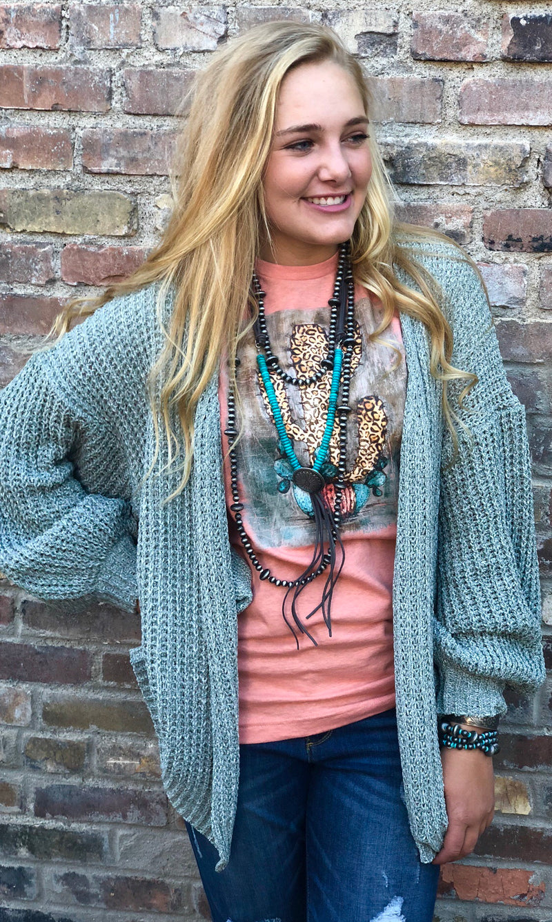 The Mint Azur Ocean Cardigan
