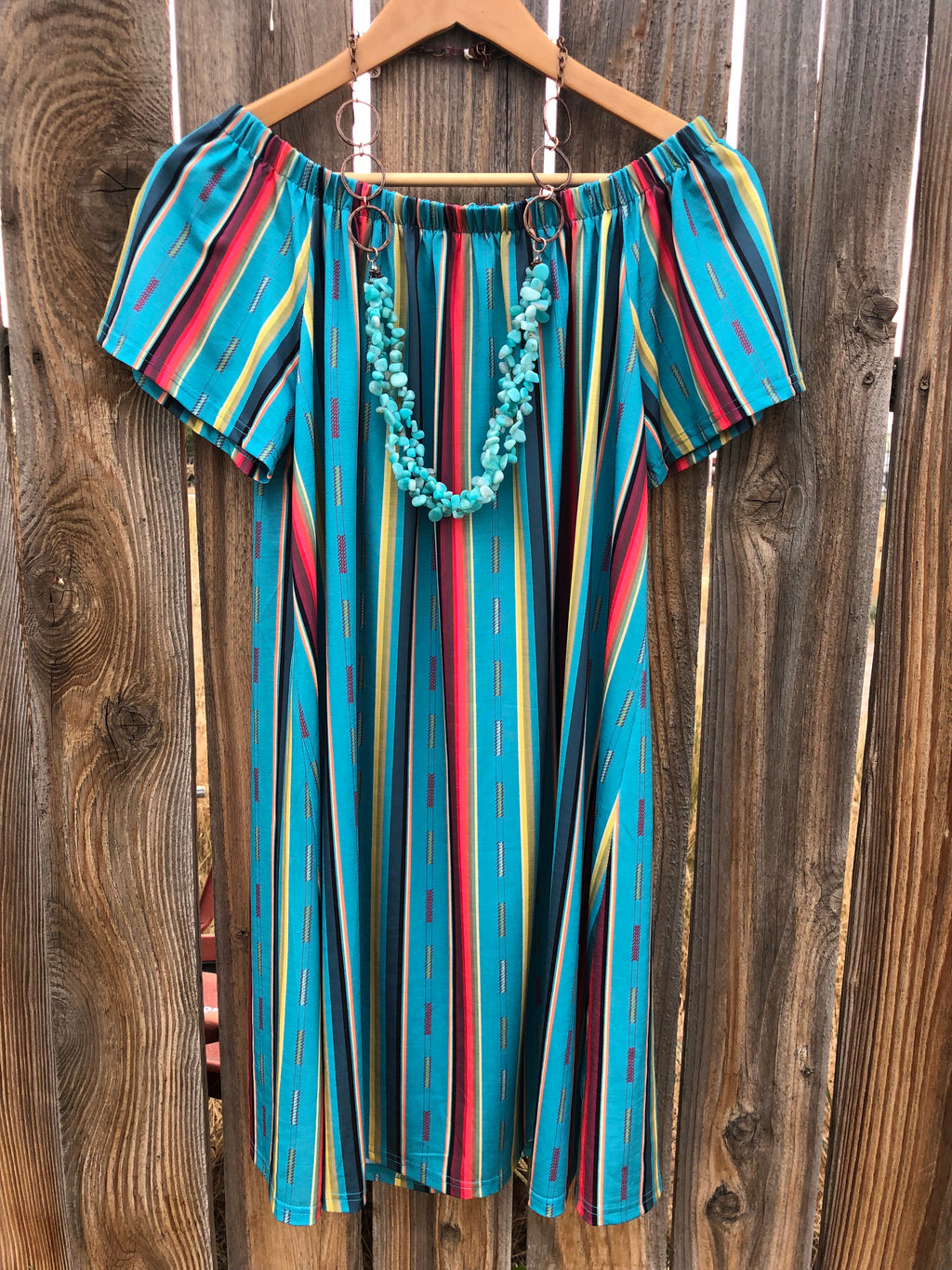 The Cabo Serape Stripe Dress