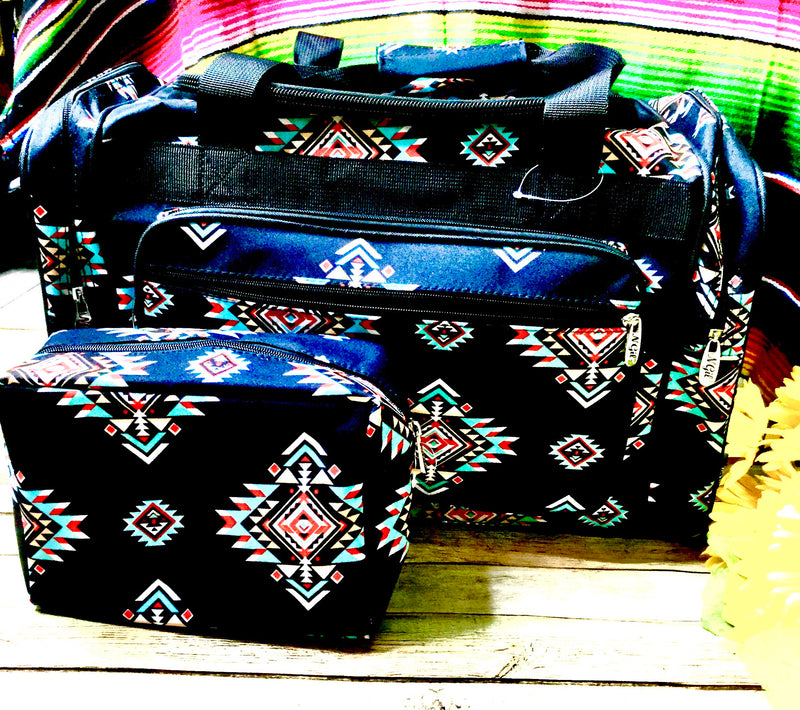 Black Tribal Duffel Bag