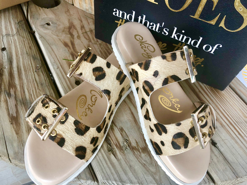 The Cheetah Pony Hair On Platform Birk Sandal