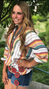 The Laredo Serape Double V Top