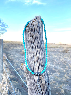 The Sagebrush Turquoise Choker Necklace