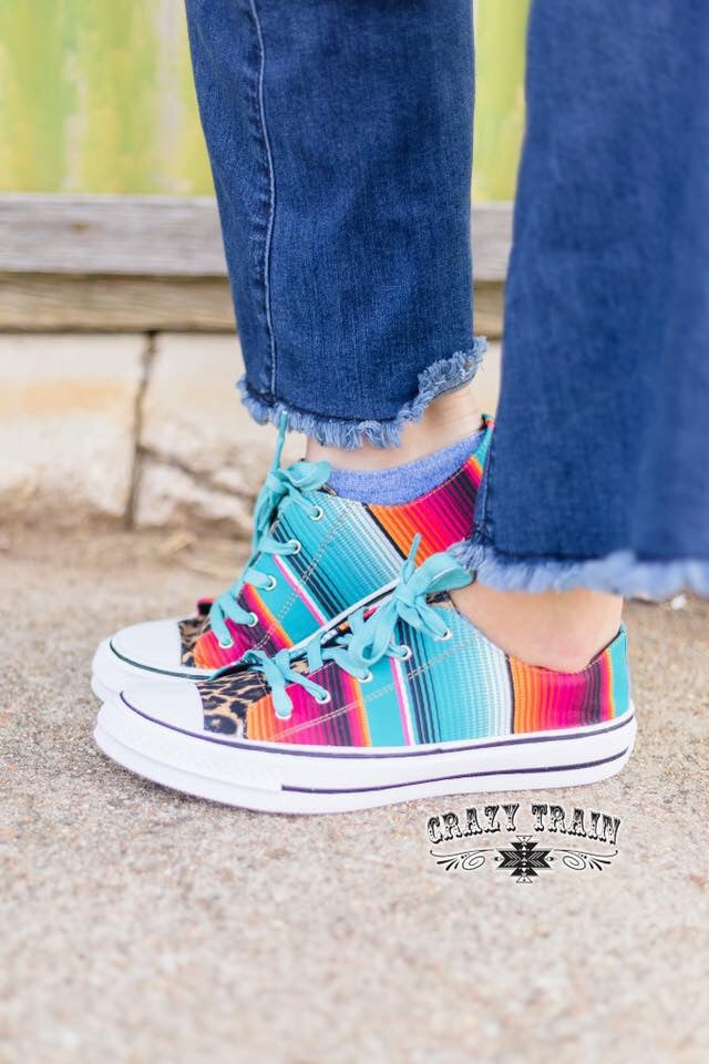 The Cheetah Serape Chucks