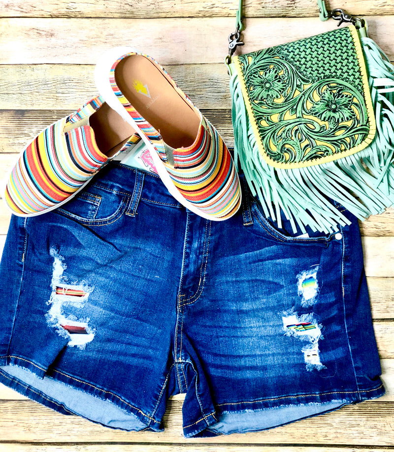 Mint Fringe Cross Body Bag